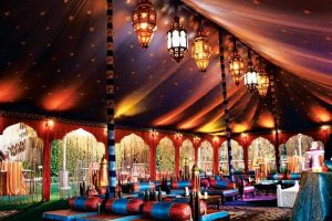 moroccan wedding tent rain plan