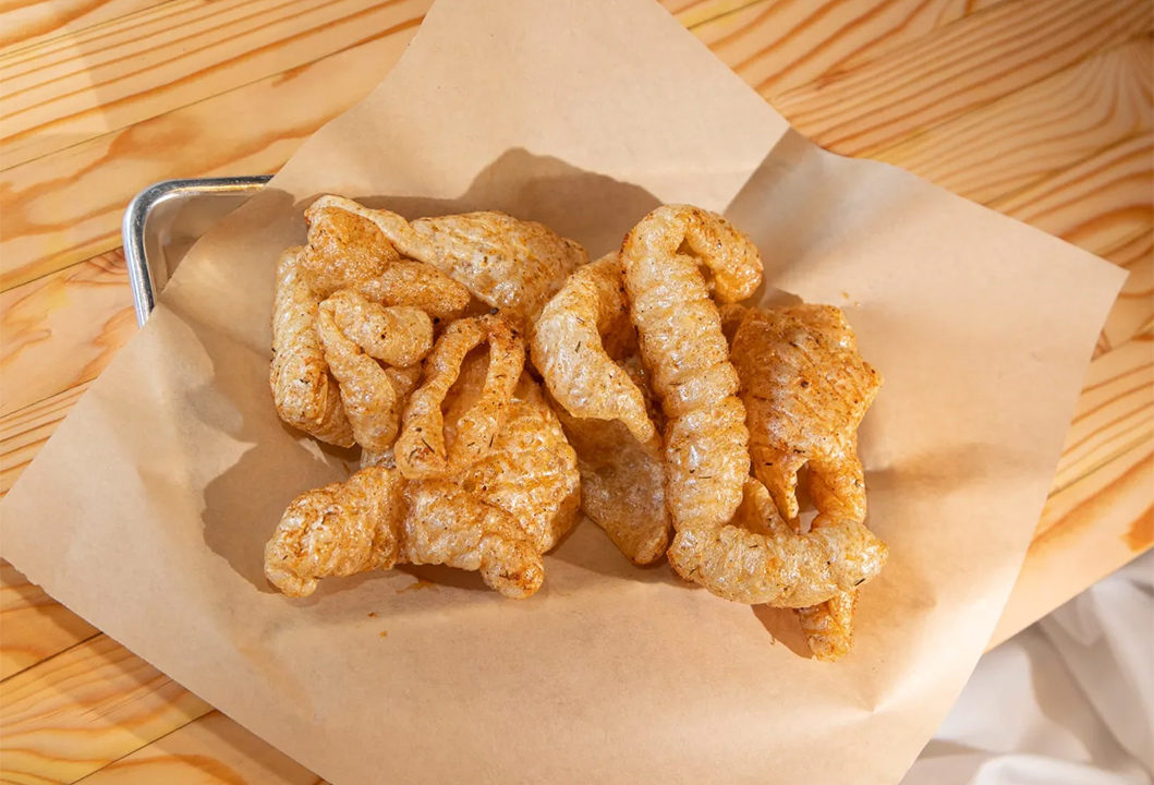 House Pork Rinds by the gallon